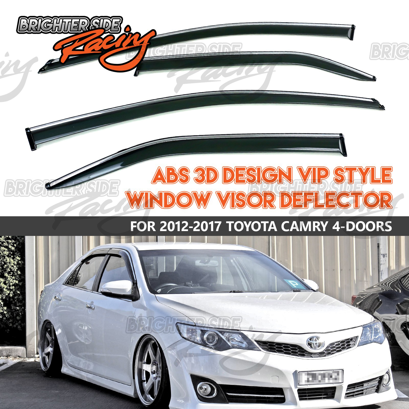MADE FOR 12 17 TOYOTA CAMRY VIP WINDOW VISOR WIND DEFLECTOR RAIN