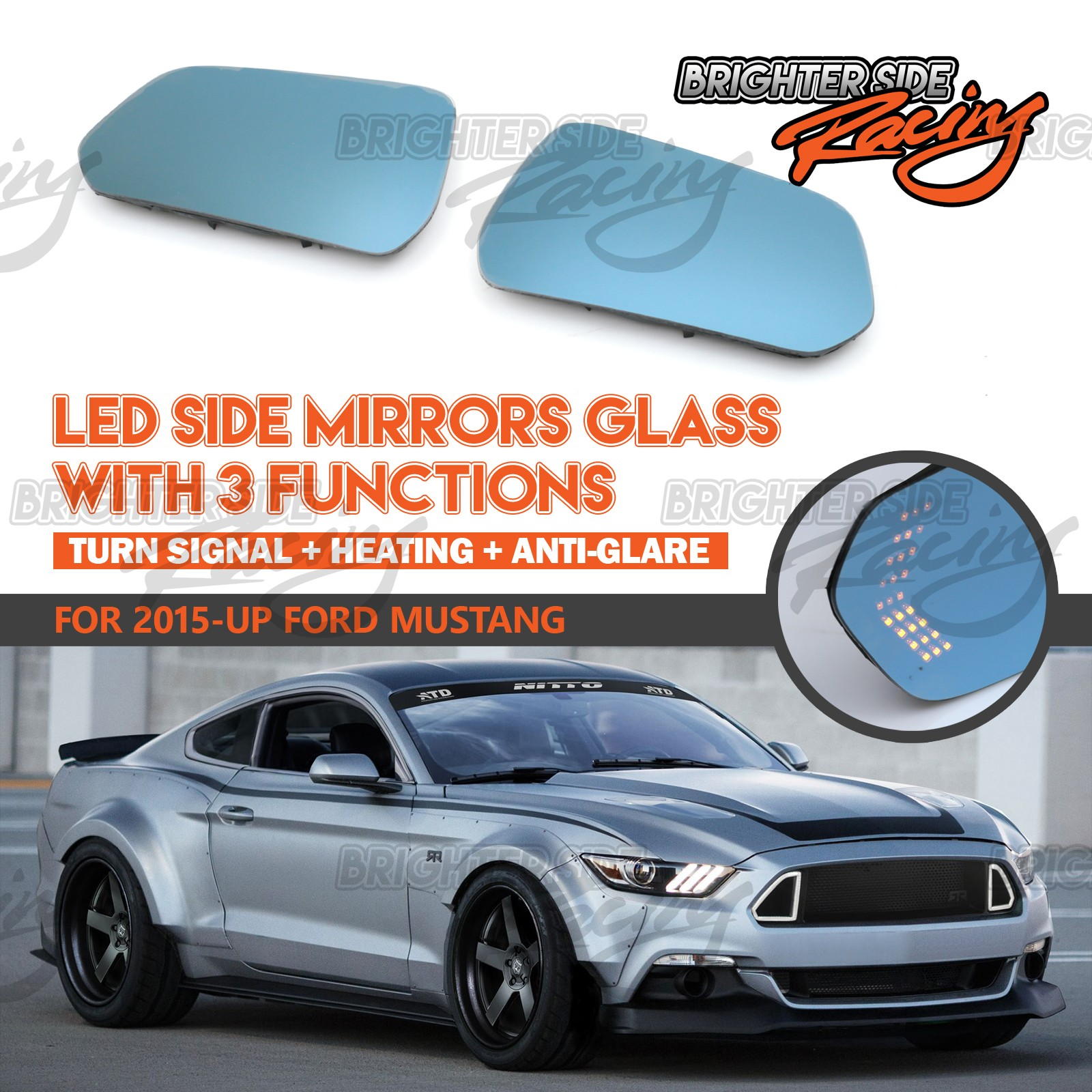 Upgrade your stock side mirrors with led signal arrows