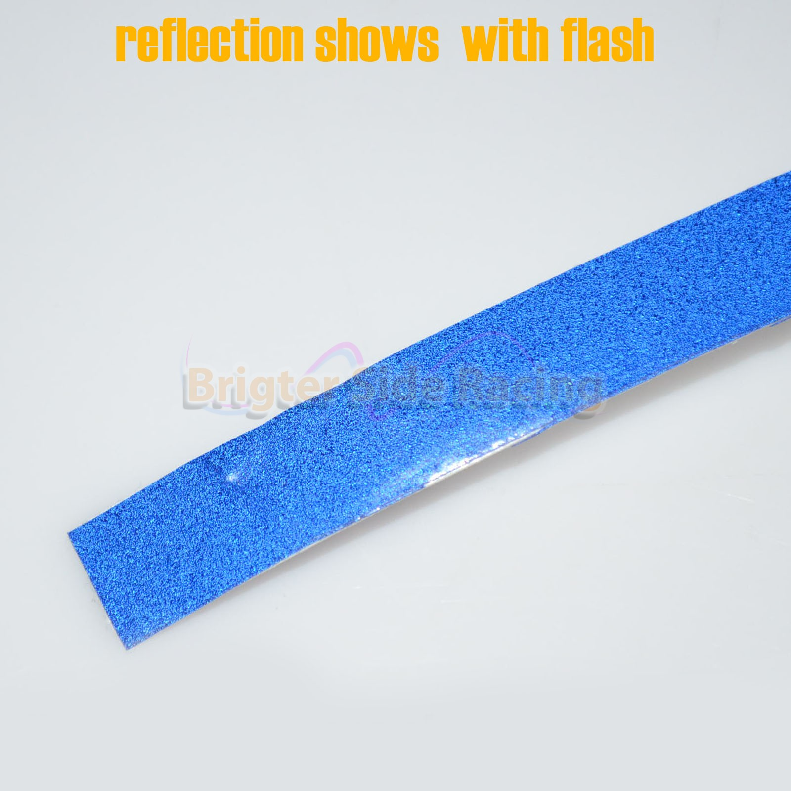 FOR VW CARS EURO BLUE SELF-ADHESIVE REFLECTIVE TAPE 1.5CMX45M LONG STRIP ROLL