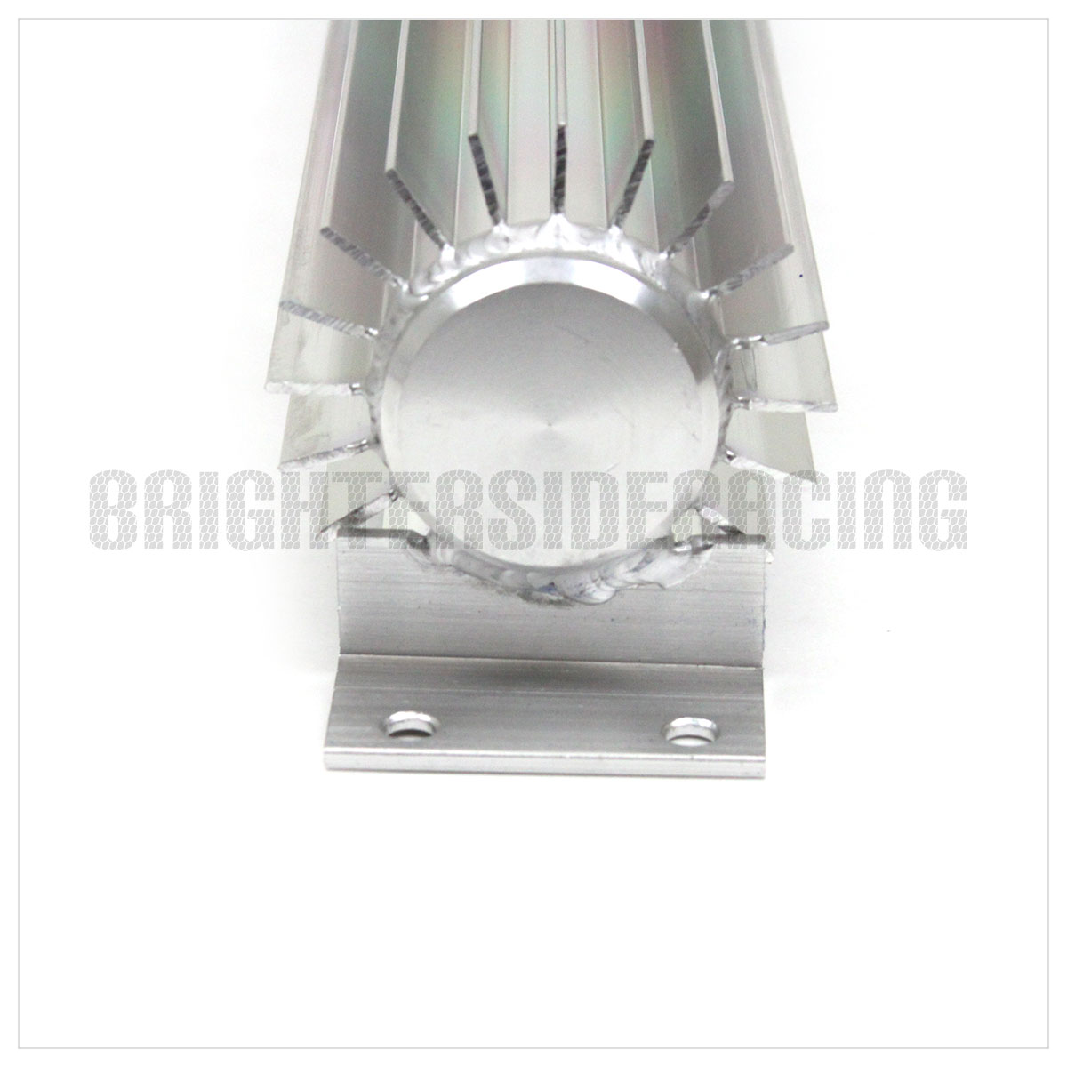 """12/"""" HOT ROD USA ALUMINUM DUAL PASS TRANSMISSION COOLER SILVER 0.5/"""" BARB FITTINGS"""